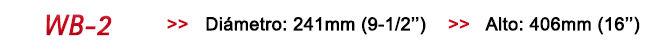 Bolso estanco azul - Diámetro 24cms / Largo 40cms