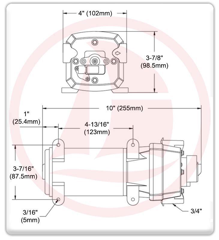 Bomba eléctrica automática de presión 4.50GPM / 40PSI - 24V