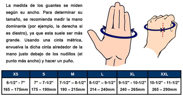 Guante Sailing 5 dedos cortados con doble protección - Talle XXL