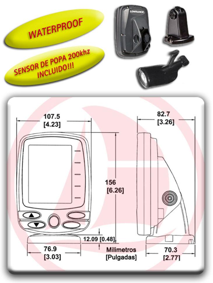 Ecosonda Gráfica Fishfinder X-4 Detectores de peces
