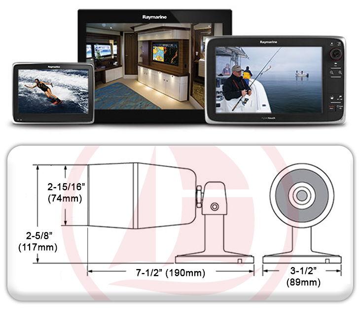 Cámara CAM200IP, en red con displays multifunción, uso día/noche