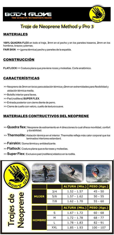 Traje de neoprene enterizo mujer Pro 3 (3/2 mm espesor)- Talle 7/8