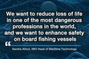 Organización Marítima Internacional (OMI) - La OMI fomenta un acuerdo para la seguridad de los buques pesqueros que salvará vidas